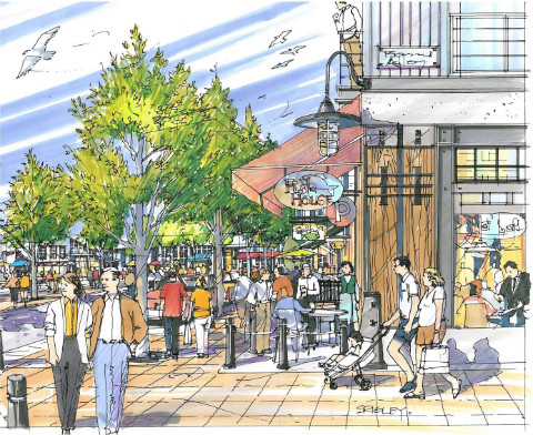 Gibsons Harbour Area Plan Village Landing Streetscape