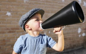 Picture of little boy with a megaphone