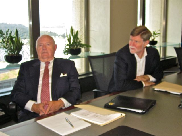 Howie Charters and Murray Swales at PlaceSpeak's September Board Meeting