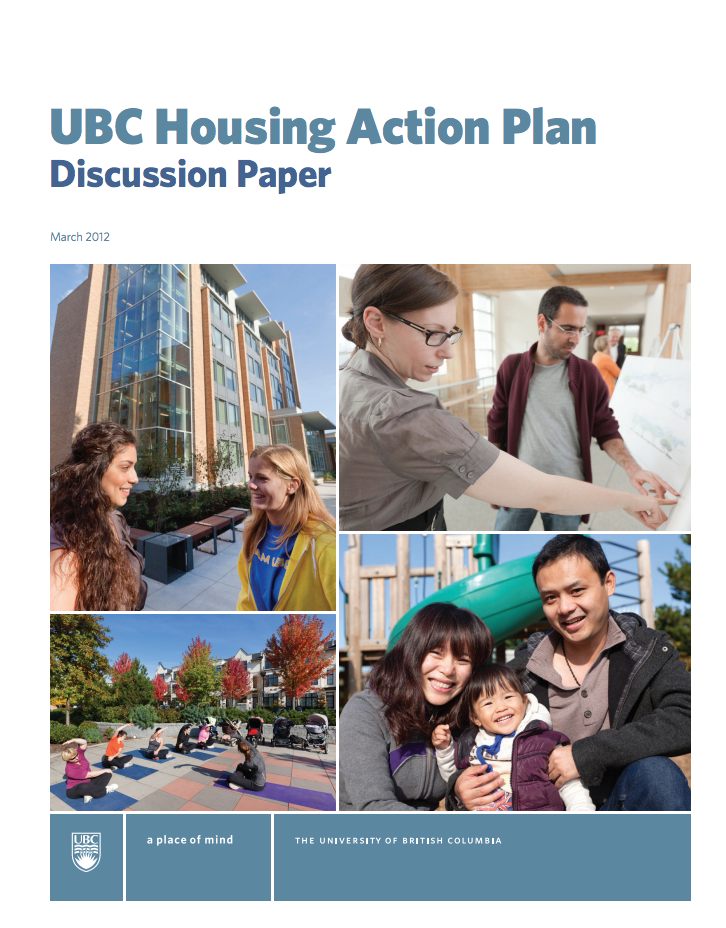 UBC Housing Action Plan Cover