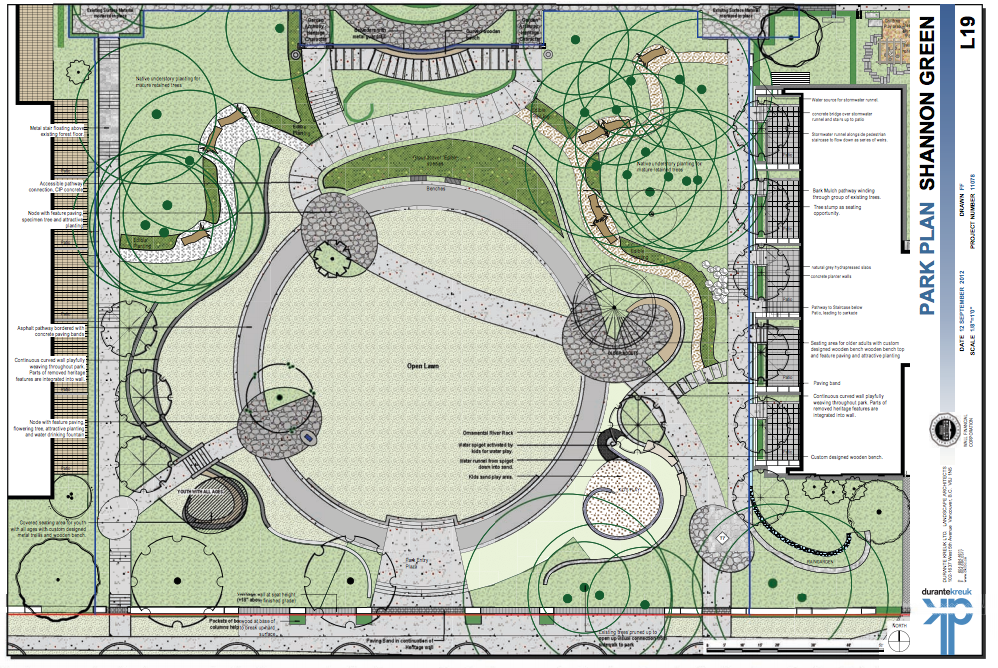 The park plan shows the overall park plan