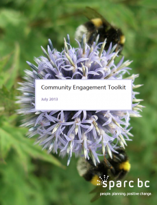 SPARC BC's Community Engagement ToolKit