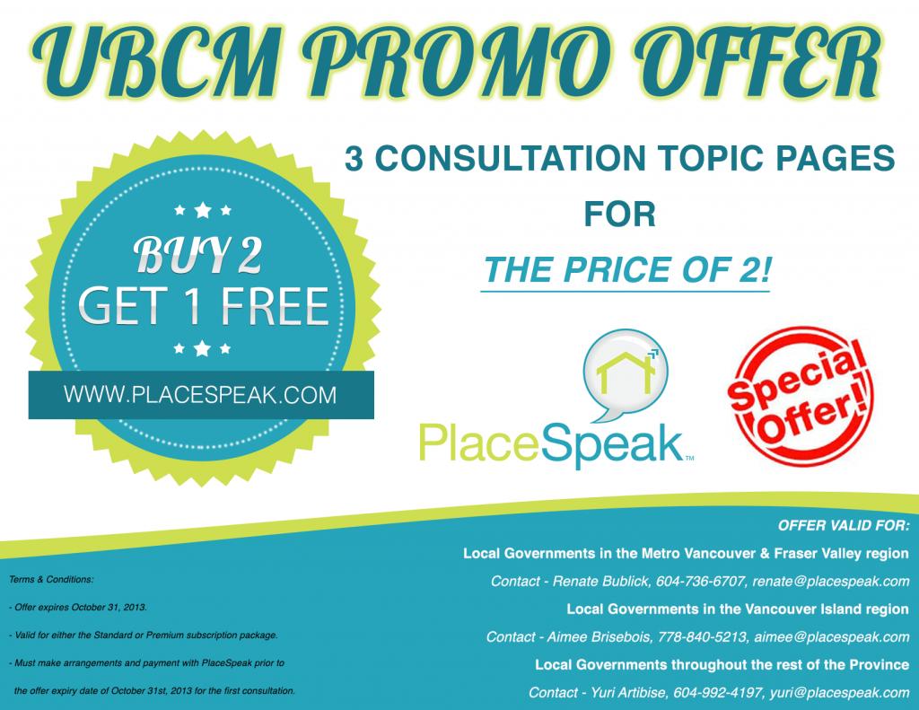 PlaceSpeak UBCM Promotion Flyer