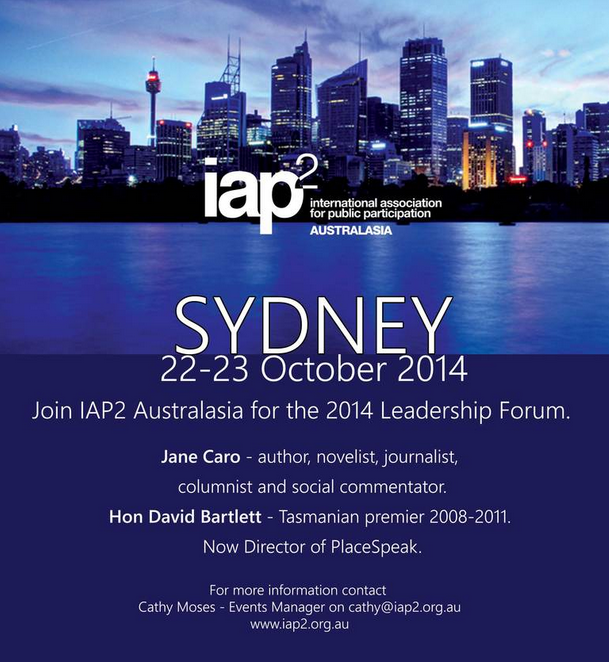 2014 IAP2 Austalasia Leadership Forum