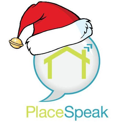 PlaceSpeak Logo - Santa Hat
