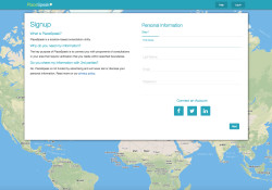 PlaceSpeak's new location-based signup page